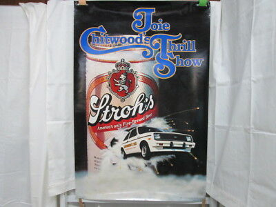 Stroh's Beer Poster 1984 Joie Chitwood's Thrill Show