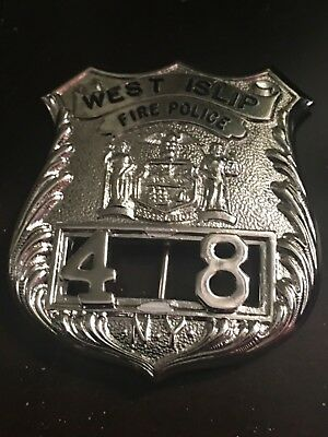 One And Only West Islip Ny Fire Police Full Size Badge