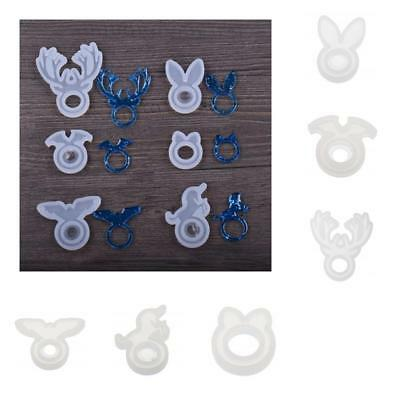 Silicone DIY Ring Mold Making Resin Casting Jewelry Rings Mould Hand Craft Tool