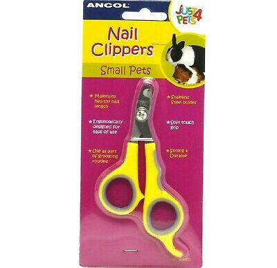 NAIL CLIPPERS - (small animal) - Ancol Just 4 Pets Stainless Steel bp Scissors