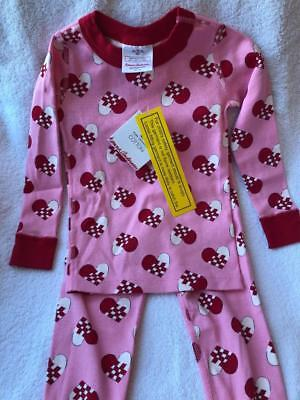 HANNA ANDERSSON - PAPER HEARTS VALENTINE'S Long Johns - 3 YRS (90)  NWT