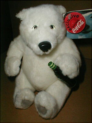 1999 Everything Coca Cola Exclusive Plush Holiday Polar Bear With Coke Bottle