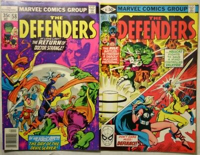 THE DEFENDERS #58 and #91 - 1978 - NM