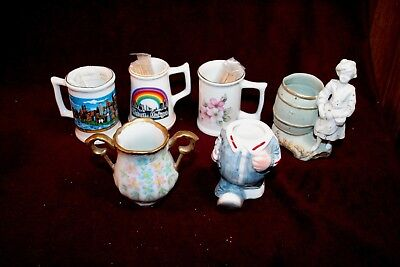 Great Set of 6 Assorted Toothpick Holders - Souvenir & Novelty Pieces - One Bid!