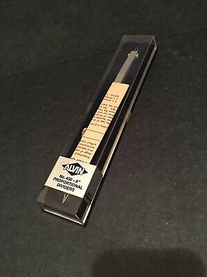 """Alvin No. 450 - 8"""" Proportional Dividers NEW with manual NIB"""