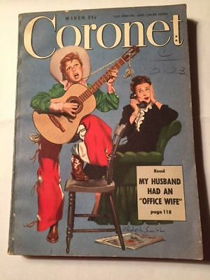 Vintage Coronet Magazine1949 Fortune Tellers Office Wife NASH car ad bras & more