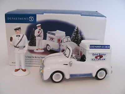 """department 56 snow village """"It's Time for an Icy Treat"""", #55013"""
