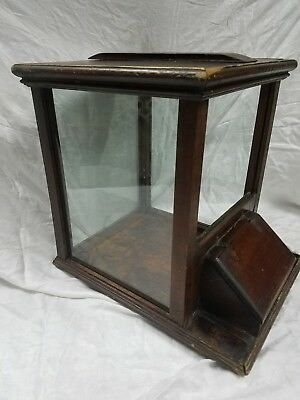 Antique 1800S Country Store Dry Goods Counter Top Display Cabinet  Pine, Glass