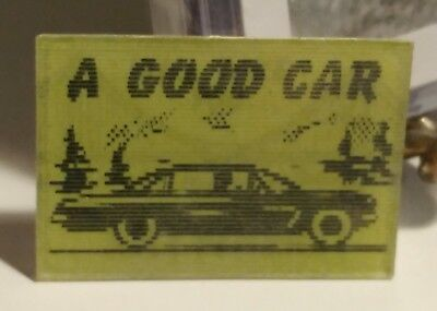 vintage VARI-VUE lenticular FLICKER 'A GOOD CAR WILL TAKE YOU ANYWHERE 1950s old