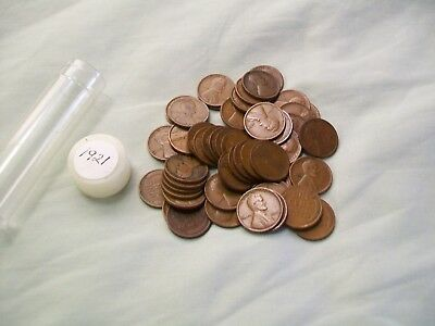 1921 Wheat Cent Roll ( 50 coins)