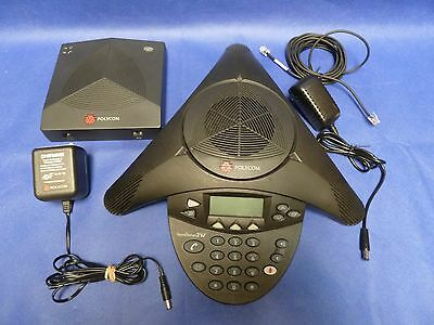Polycom SoundStation 2W w/ Base and AC Adapters SS2W TEST WORKING! 30 Days Warra