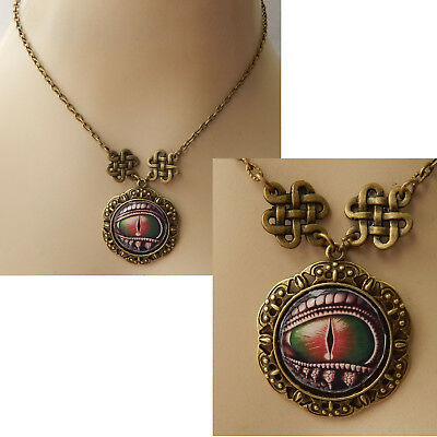 Dragon Eye Pendant Necklace Jewelry Handmade NEW adjustable Accessories Gold