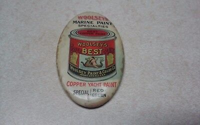 Very Rare Antique Woolsey's Marine Paint Pocket Mirror Jersey City, New Jersey