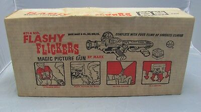Marx Flashy Flickers Magic Picture Gun Toy Still In Original Box Never Used
