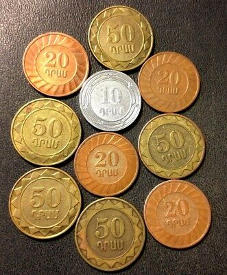 Old ARMENIA Coin Lot - 10 High Quality Coins - Scarce Type - Lot #J16