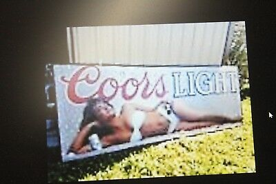 Coors Light Bikini 2 Huge Advertising Billboard 10.25ft x 22.6ft Sign from 1990