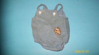 fits CABBAGE PATCH kids  DOLL blue greay romper