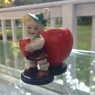 Goebel Crown 1923-50 Marked S62 Child & Hearts Figurine Match Stand TMK1 Rare