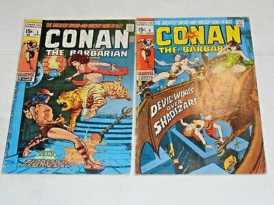Conan The Barbarian #5 and #6 comic lot (VG) Barry Smith art