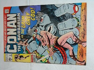 Conan The Barbarian #3 comic (VF-) Barry Smith art 1971 Low Distribution!