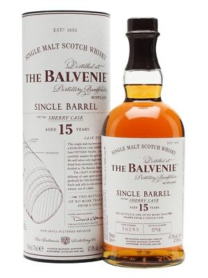 Balvenie 15 Year Old Sherry Cask Single Barrel Single Malt Scotch Whisky 700ml