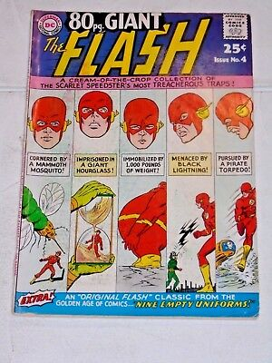 80pg. Giant Flash #4 comic (VG+) 1964