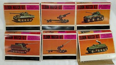 Eldon Match Kit LOT Of 6 Military Vehicles All Sealed From 1967 New Old Stock