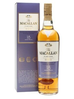 Macallan 18 Year Old Fine Oak Single Malt Scotch Whisky 700ml