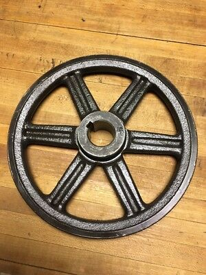 Vintage Cast Iron Metal Browning Pulley Wheel Industrial Steampunk