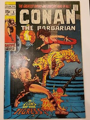 Conan the Barbarian #5 1970 Marvel