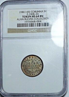 CORUNNA IN..190B-3a  IRA BOWEN..NGC MS64..R6..FROM THE ALAN BLEVISS COLLECTION