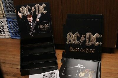 AC/DC rock or bust stand up display NEW in Box Heavy Metal Angus Young Promo