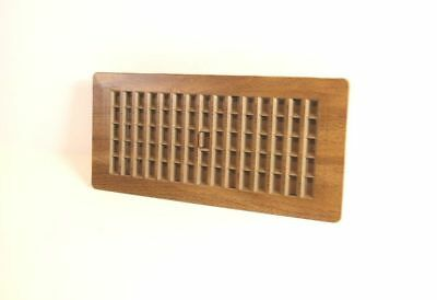 Decor-Grates-Floor-Register-Plastic-Mahogany Tan Design-Air-Vent-4x10,4x12, 2x14