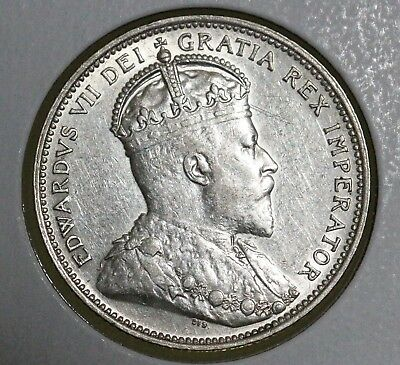 1910 25C Canada 25 Cents AU BETTER DATE HIGH GRADE HARD TO FIND!!!