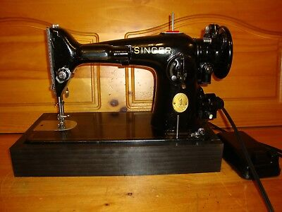 Vintage  Singer Sewing Machine 201-2,heavy Duty Gear Driven ,fully Serviced