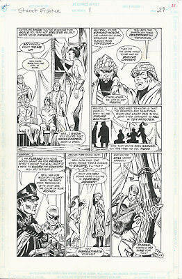 Original Comic Art 11x17 Street Fighter 1 Page 29 DC Comics Bison Honda Sagat