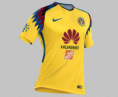 0d077dff57 NIKE CLUB AMÉRICA Official 2018 2019 Home Soccer Football Jersey ...
