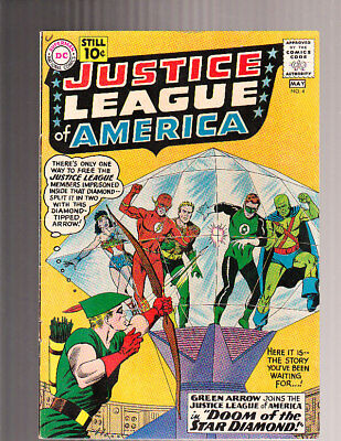Justice League of America # 4 High Grade VFN- Green Arrow Joins