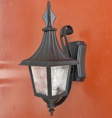 Vintage ITALY Bungalow Tudor Hammered Porch Light Fixture WALL SCONCE