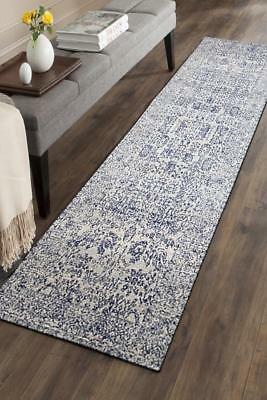 Hallway Runner Hall Runner Rug Modern Blue 3 Metres Long Premium Edith 256
