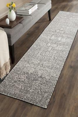 Hallway Runner Hall Runner Rug Modern Grey 4 Metres Long Premium Edith 256