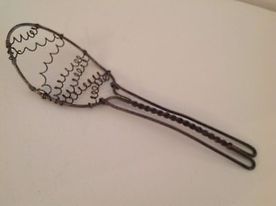 Twisted Wire Whisk Antique Metal Egg Whip Vintage Early Primitive