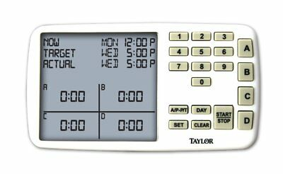 Taylor Meal Scheduling Assistant & Timer -Start/Stop Times Up to 4 Dishes/