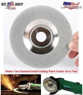 US Diamond Coated Rotary Glass Grinding Cutter Saw Blade Wheel Disc 4 inch 100mm