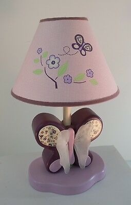 Sugar Plum Lamp by CoCaLo Baby Lamp Light Nursery Purple Butterfly