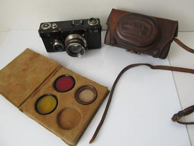 Zeiss Ikon Contax I  w/Sonnar 5cm f/2, Filters & Case ****