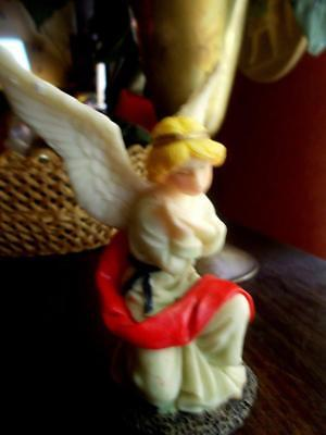 Nativity Angel On High 4 Inches Beautiful Wings And Colors Stand Alone Or Add To