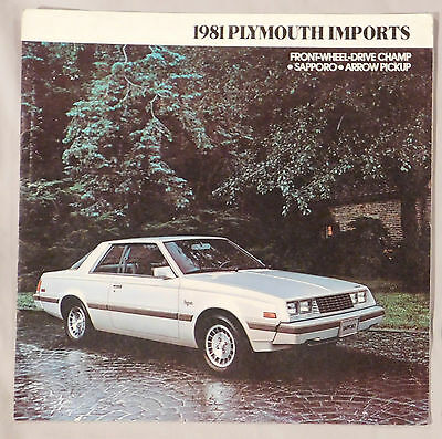 1981 Plymouth Imports Sfront-Wheel Drive Champ Apporo Arrow Pickup Brochure