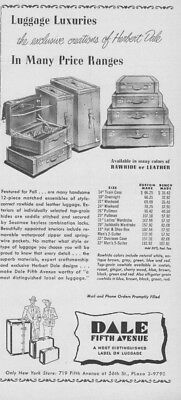 1948 Dale Fifth Avenue Vintage 1940s Luggage Suitcases Trunks Ad