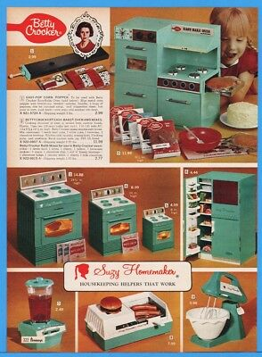 1969 Betty Crocker Easy Bake Oven Suzy Homemaker Kitchen Sets Appliance Print Ad